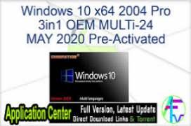 Windows 10 X86 1909 Pro ar-SA en-US MAY 2020 {Gen2}